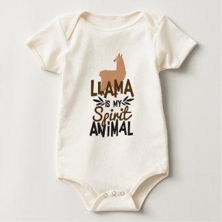Body Para Bebê O lama bonito é meu impressão animal do espírito