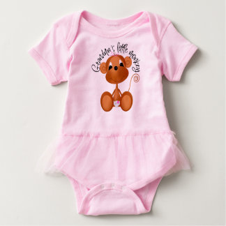 Body Para Bebê O macaco pequeno da avó