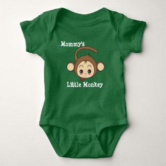 Body Para Bebê O macaco pequeno da mamã