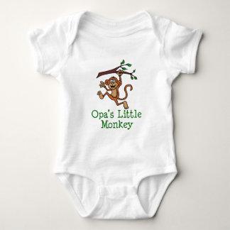 Body Para Bebê O macaco pequeno de Opa