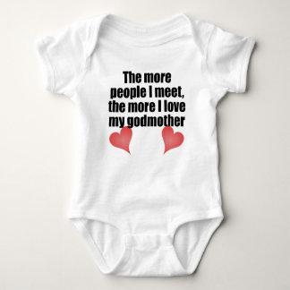 Body Para Bebê O mais amor de I minha madrinha