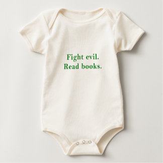 Body Para Bebê O mau da luta leu livros