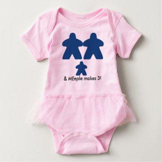 Body Para Bebê o meeple faz o tutu de três bebês