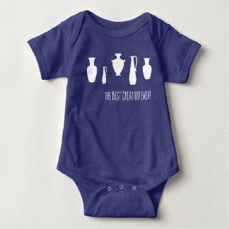 Body Para Bebê O melhor Bodysuit sempre grego do bebê dos vasos