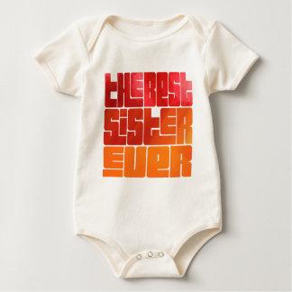 Body Para Bebê O melhor cumprimento sempre Funky da irmã