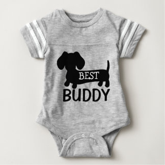 Body Para Bebê O melhor Dachshund do amigo um equipamento do bebê