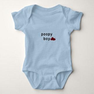 Body Para Bebê O menino de Poopy salta a série