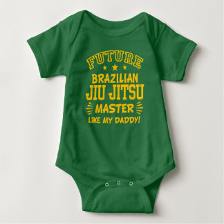Body Para Bebê O mestre futuro de Jiu Jitsu do brasileiro gosta