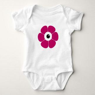 Body Para Bebê o olho da flor cor-de-rosa