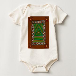Body Para Bebê O olho Unblinking do deus