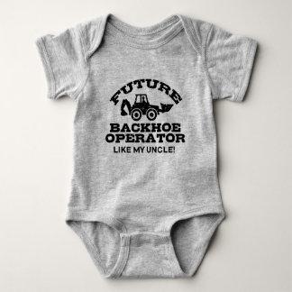 Body Para Bebê O operador futuro do Backhoe gosta de meu tio