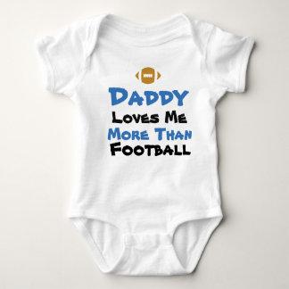 Body Para Bebê O pai ama-me mais do que o Bodysuit do bebê do