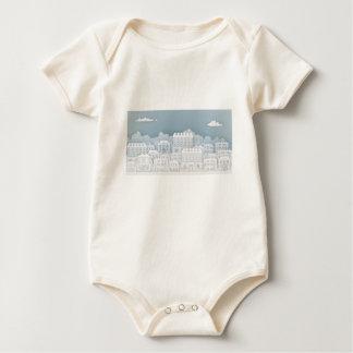 Body Para Bebê O papel abriga a fileira