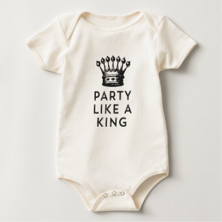 Body Para Bebê O partido gosta de um rei Aniversário T