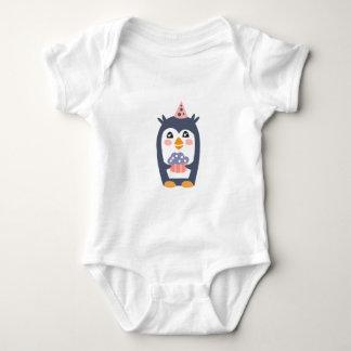 Body Para Bebê O pinguim com partido atribui Funky estilizado