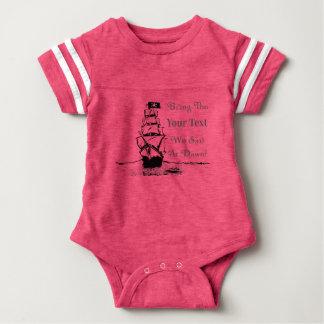 Body Para Bebê O pirata do design de Umsted preenche o vazio