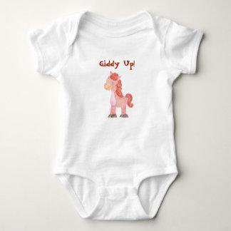 Body Para Bebê O pônei ascendente vertiginoso do cavalo