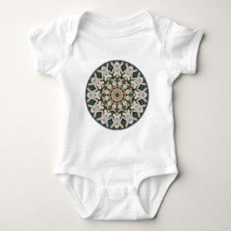Body Para Bebê O primavera floresce 04,2, Flor-Mandala