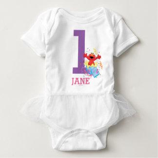 Body Para Bebê O primeiro aniversario da menina do Sesame Street