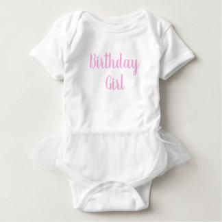 Body Para Bebê ø primeiro cursive do rosa um do bebé do