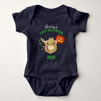 Body Para Bebê O primeiro Dia das Bruxas do bebê pequenino de