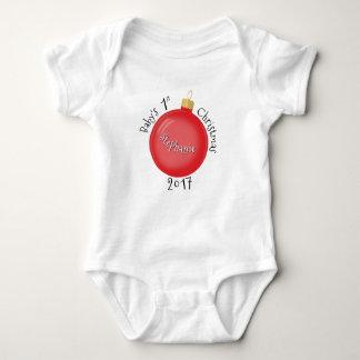 Body Para Bebê O primeiro Natal do bebê