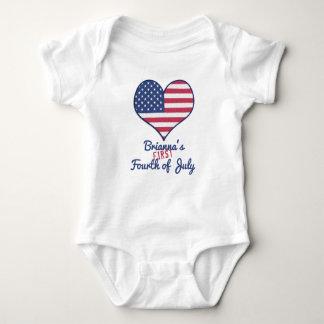 Body Para Bebê O primeiro quarto do bebê de julho personalizou