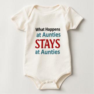 Body Para Bebê O que acontece em Aunties