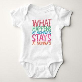 Body Para Bebê O que acontece nas estadas de Nonna em Nonna