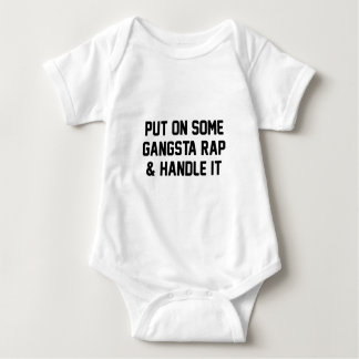Body Para Bebê O rap de Gangsta & segura-o