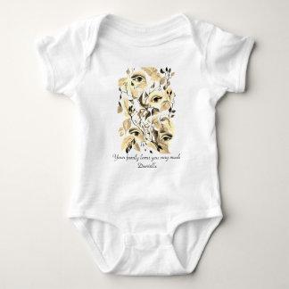 Body Para Bebê O Sepia surreal vanguardista visionário dos olhos