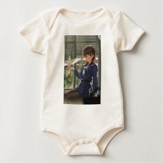 Body Para Bebê O Sis de Lil espera o seu do trabalho