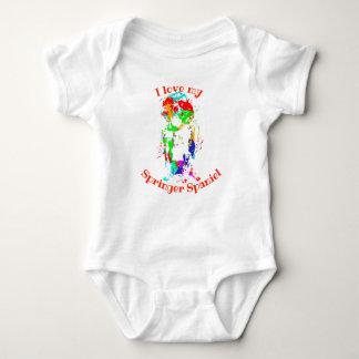 Body Para Bebê O Spaniel de Springer bonito Bebê-Cresce/veste!