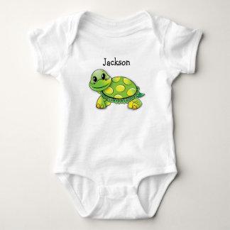 "Body Para Bebê O T bonito do bebê da tartaruga de ""Jackson"","