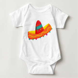Body Para Bebê O t-shirt do bebê do Sombrero de Cinco de Mayo do