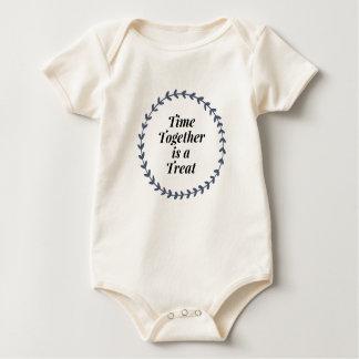 Body Para Bebê O tempo é junto um deleite