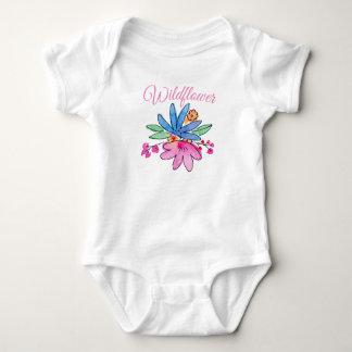 Body Para Bebê O terno do corpo do bebê do Wildflower floresce