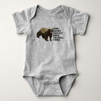 Body Para Bebê O texugo de mel não sua as coisas pequenas