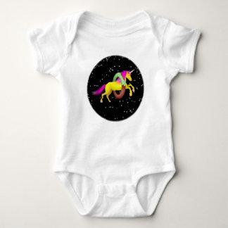 Body Para Bebê O unicórnio que salta através de uma filhós