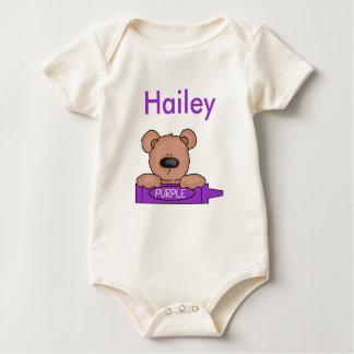 Body Para Bebê O ursinho personalizado de Hailey