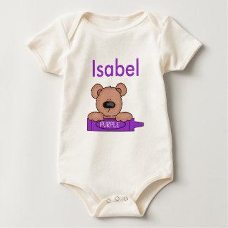 Body Para Bebê O ursinho personalizado de Isabel