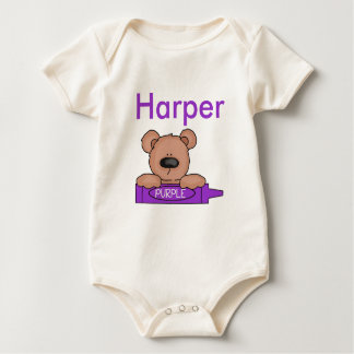 Body Para Bebê O ursinho personalizado do harpista