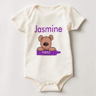 Body Para Bebê O ursinho personalizado do jasmim