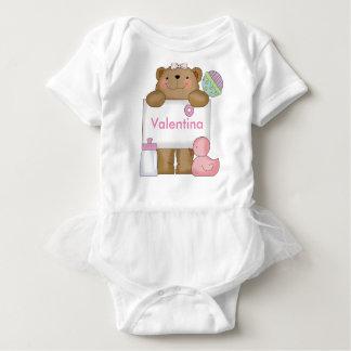 Body Para Bebê O urso personalizado de Valentina