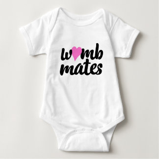 Body Para Bebê O ventre acopla o Bodysuit cor-de-rosa dos gêmeos