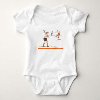 Body Para Bebê O vintage caçoa o jogo de basebol dos meninos