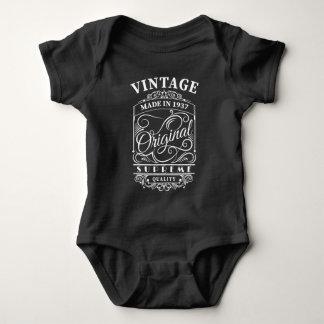 Body Para Bebê O vintage fez em 1937 o aniversário