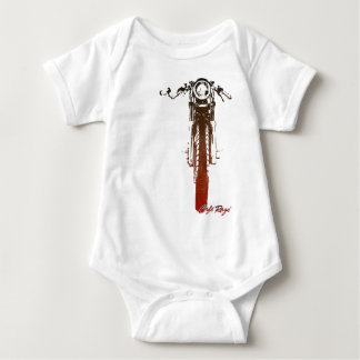 Body Para Bebê O vintage vermelho frontal do piloto do café