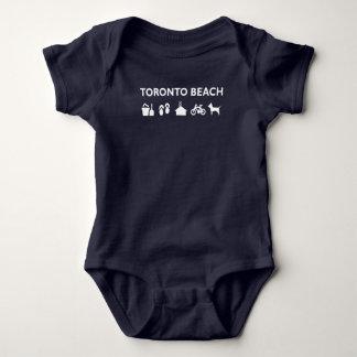 Body Para Bebê Obscuridade monótonos dos ícones da praia de
