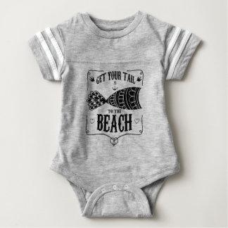 Body Para Bebê Obtenha sua cauda à praia
